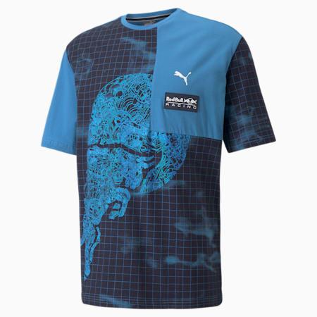 Red Bull Racing AOP Men's Loose T-Shirt, Bleu Azur, small-IND