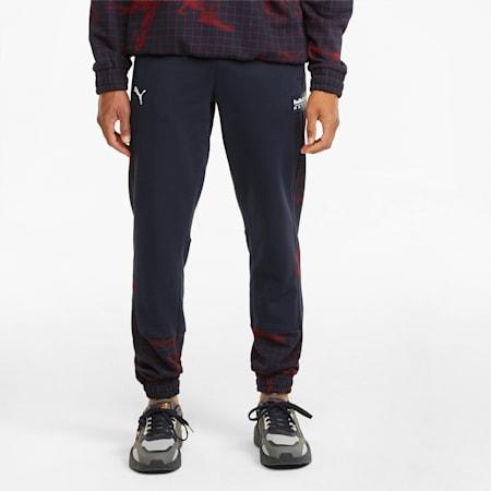 Red Bull Racing Printed Men's Sweatpants, NIGHT SKY, small