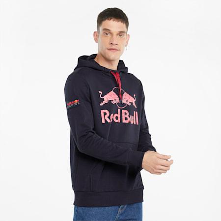 Felpa con cappuccio con logo dei due tori Red Bull Racing uomo, NIGHT SKY, small