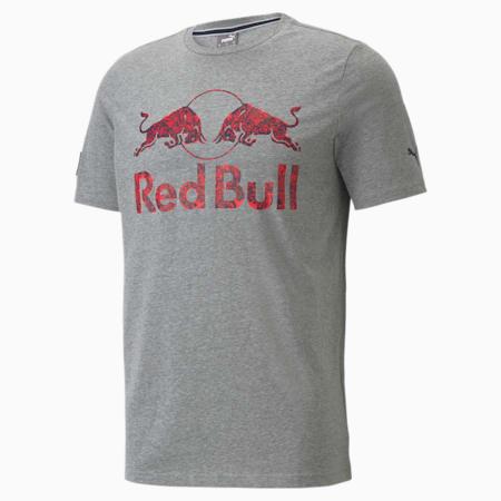 Red Bull Racing Double Bull Men's Tee, Medium Gray Heather, small