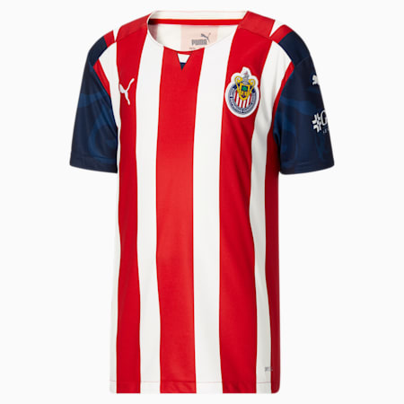 Reproduction de maillot à domicile Chivas, enfant, 21-22, Rouge PUMA, petit
