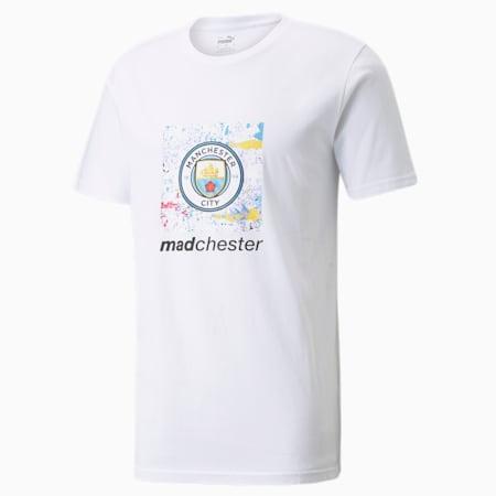 Man City x MDCR Graphic Logo Men's Football Tee, Puma White, small