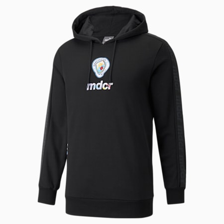 Sudadera con capucha de fútbol estampada de Manchester City x MDCR para hombre, Puma Black, pequeño