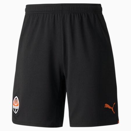 FC Shakhtar Donetsk Replica Men's Shorts, Puma Black-GOLDEN POPPY, small