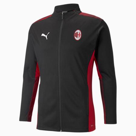 AC Milan Men's Training Slim Jacket, Puma Black-Tango Red, small-IND