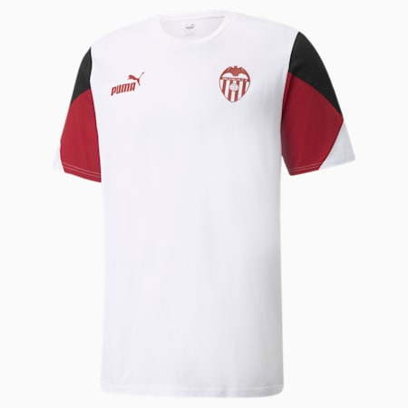 Valencia CF FtblCulture Herren Fußball-T-Shirt, Puma White-Puma Black, small