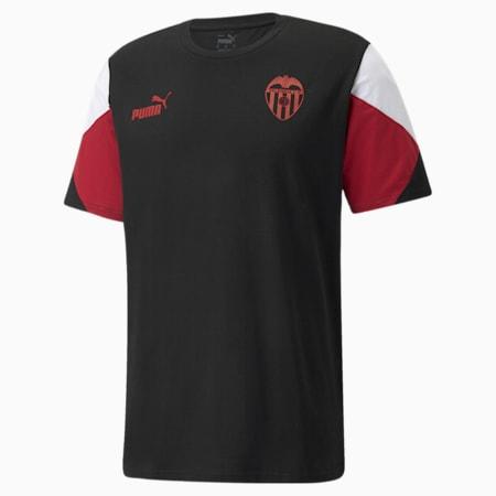Valencia CF FtblCulture Herren Fußball-T-Shirt, Puma Black-Puma White, small