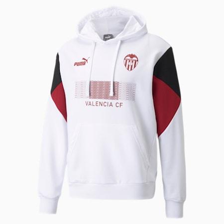 Męska piłkarska bluza z kapturem Valencia CF FtblCulture, Puma White-Puma Black, small