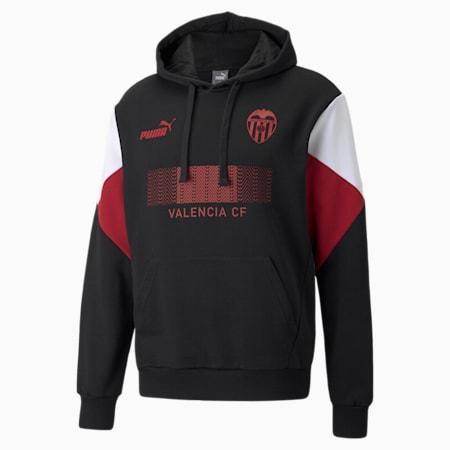 Valencia CF FtblCulture Men's Football Hoodie, Puma Black-Puma White, small-GBR