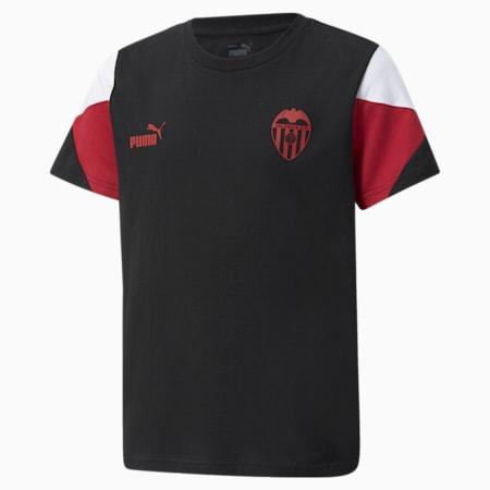 T-shirt da calcio Valencia CF FtblCulture Youth, Puma Black-Puma White, small