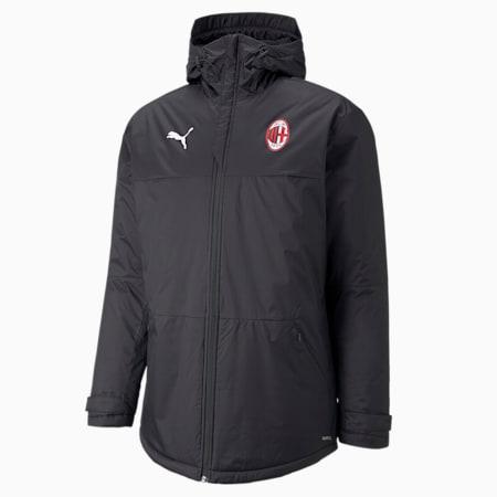 Męska zimowa kurtka piłkarska ACM 3/4, Puma Black-Tango Red, small