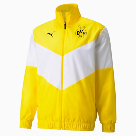 PUMA x First Mile BVB Prematch voetbaljack voor heren, Cyber Yellow, small