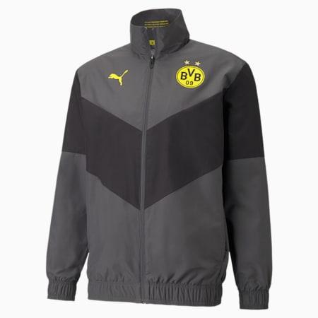 BVB Prematch Men's Football Jacket, Asphalt, small-GBR