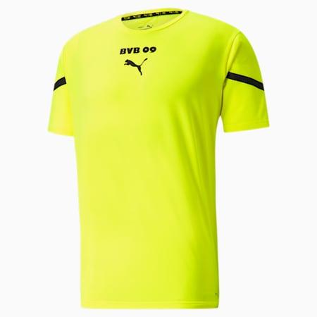PUMA x First Mile BVB Prematch Trikot für Herren, Safety Yellow-Puma Black, small