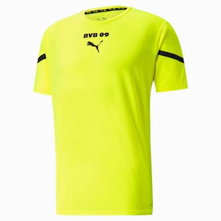 BVB Prematch Men's Jersey, Safety Yellow-Puma Black, small-IND