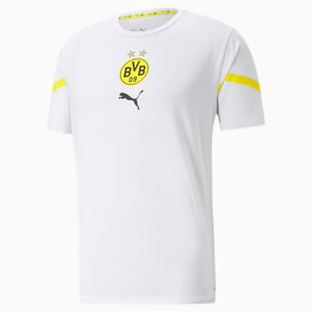 Maillot avant-match PUMA x First Mile BVB homme, Puma White-Cyber Yellow, small