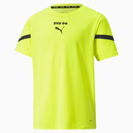 BVB Prematch Youth Jersey, Safety Yellow-Puma Black, small-GBR