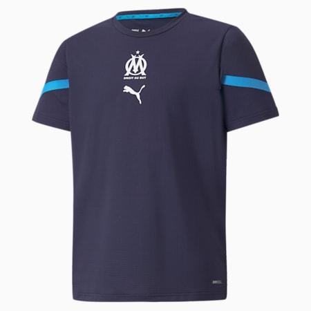 Camiseta juvenil OM Prematch, Peacoat-Bleu Azur, small