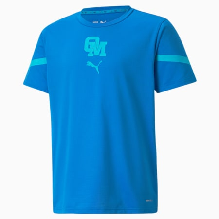 OM Prematch Youth Jersey, Electric Blue Lemonade-Blue Atoll, small