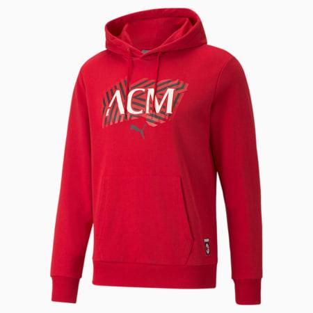 Sudadera con capucha de fútbol ACM FtblCorepara hombre, Tango Red -Puma Black, pequeño