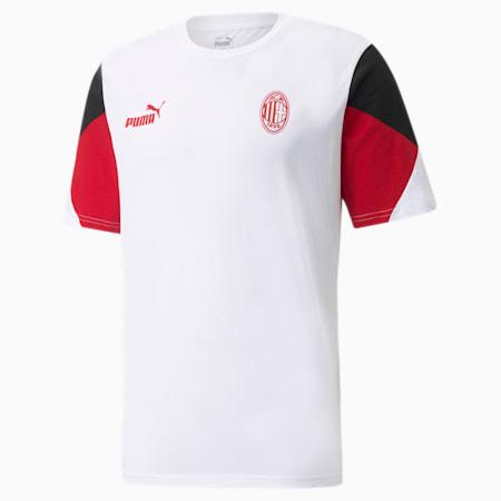 AC Milan Football Culture Men's T-Shirt, Puma White-Tango Red, small-IND