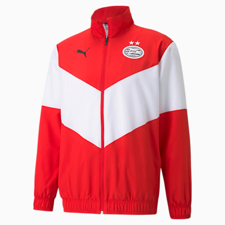 Chaqueta de fútbol para hombre PSV Prematch, High Risk Red-Puma White, small