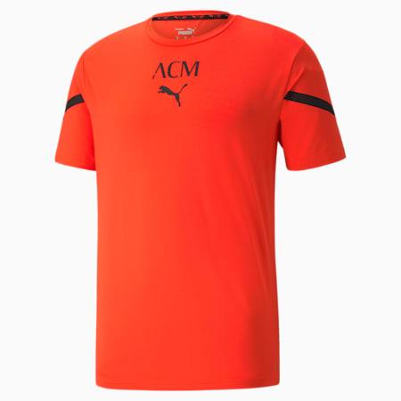 Camiseta ACM Prematch para hombre, Red Blast-Puma Black, pequeño