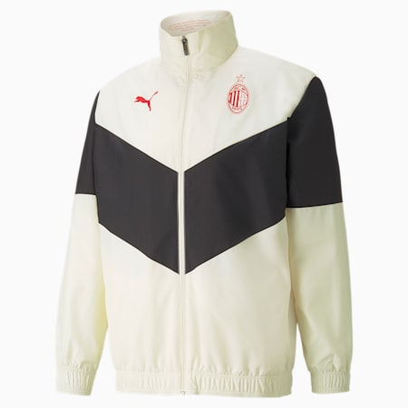 AC Milan Prematch Men's Football Jacket, Afterglow-Puma Black, small