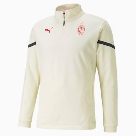 AC Milan Prematch Quarter-Zip Men's Football Top, Afterglow-Puma Black, small
