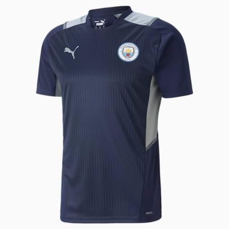 Camiseta de entrenamiento Manchester City para hombre, Peacoat-Quarry, pequeño