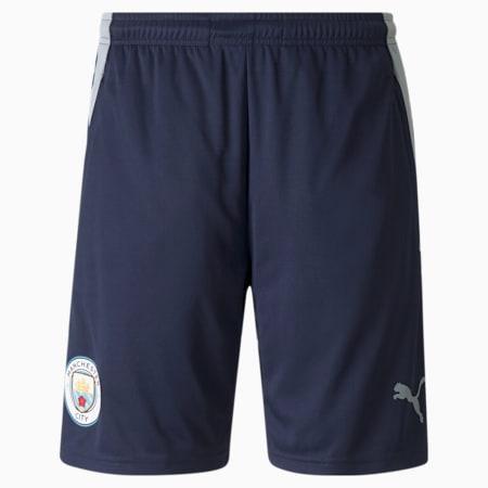 Man City Training Men's Football Shorts, Peacoat-Quarry, small-SEA