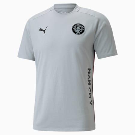 Man City Casuals Men's Football Tee, Quarry-Puma Black, small-GBR