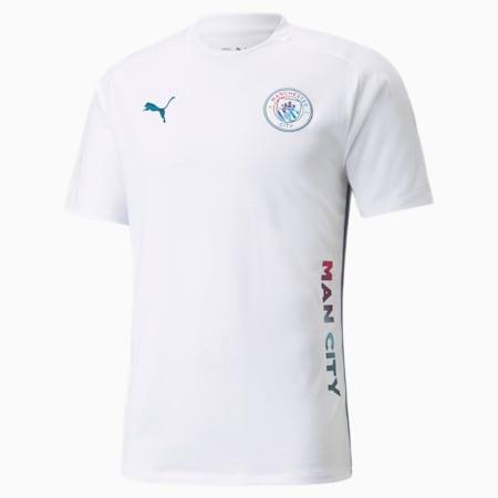 Man City Casuals Men's Football Tee, Puma White, small
