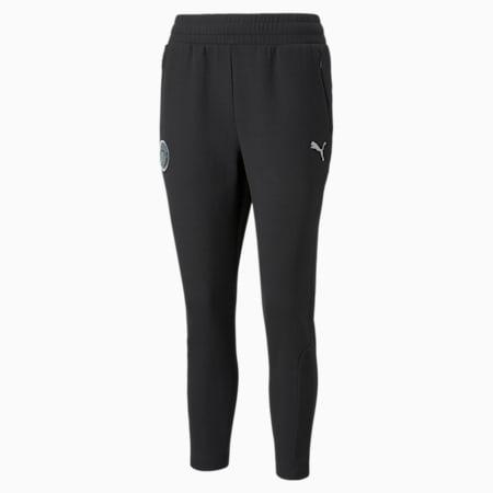 Man City Casuals Women's Football Sweatpants, Cotton Black, small