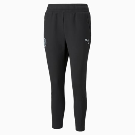 Man City Casuals Women's Football Sweatpants, Cotton Black, small-GBR
