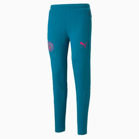 Męskie piłkarskie spodnie dresowe Man City Casuals, Ocean Depths-Beetroot Purple, small