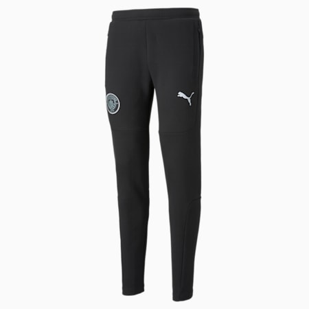 Manchester City Casuals Men's Sweat Pants, Cotton Black, small-IND