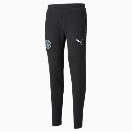 Man City Casuals Men's Football Sweatpants, Cotton Black, small-GBR