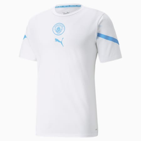 Maglia PUMA x FIRST MILE Man City Prematch uomo, Puma White-Team Light Blue, small