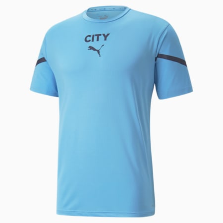 Męska przedmeczowa koszulka PUMA x FIRST MILE Man City, Team Light Blue-Peacoat, small