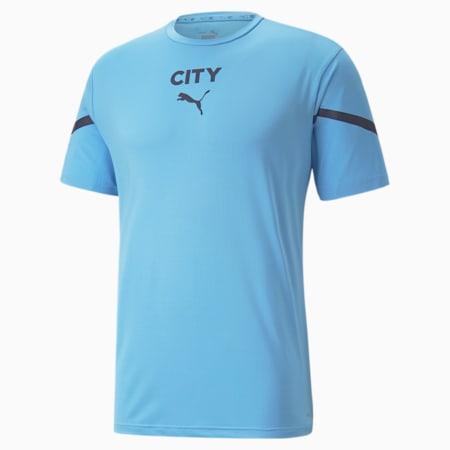 Camiseta de concentración PUMA x FIRST MILE Manchester City para hombre, Team Light Blue-Peacoat, pequeño