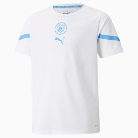 PUMA x FIRST MILE Man City Prematch Youth Jersey, Puma White-Team Light Blue, small-GBR