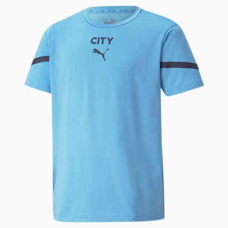 PUMA x FIRST MILE Man City Prematch Youth Jersey, Team Light Blue-Peacoat, small-GBR