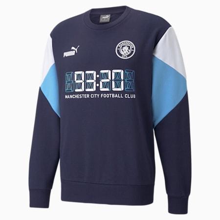 Felpa da calcio Man City FtblCulture uomo, Peacoat-Puma White, small