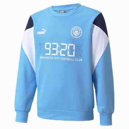 Man City FtblCulture Youth Football Sweater, Team Light Blue-Puma White, small-GBR