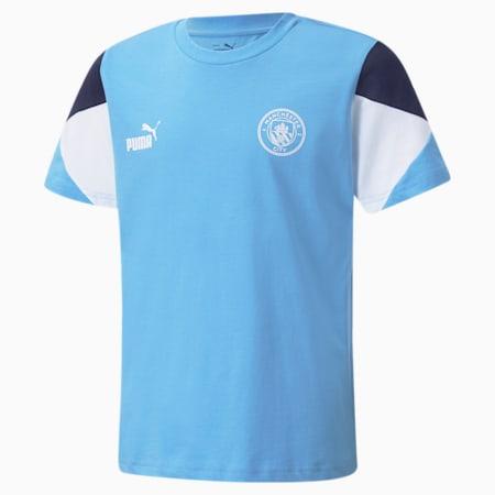 Man City FtblCulture Youth Football Tee, Team Light Blue-Puma White, small-GBR