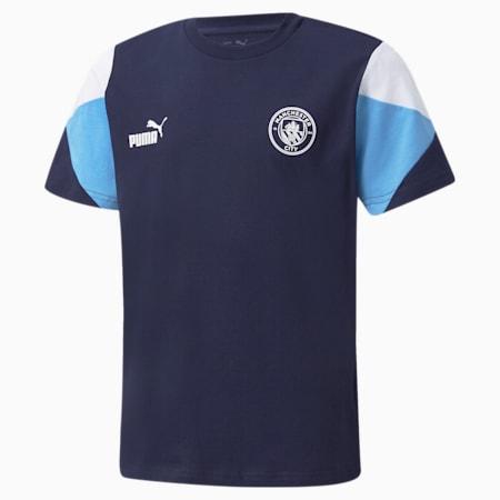 Maglietta da football Man City FtblCulture da ragazzo, Peacoat-Puma White, small