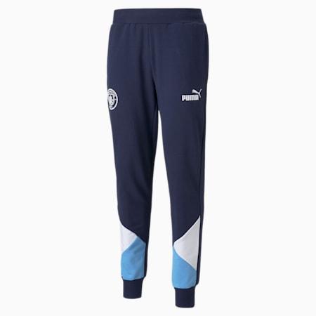 Man City FtblCulture Men's Football Track Pants, Peacoat-Puma White, small
