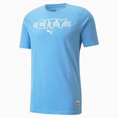 Camiseta de fútbol Manchester City FtblCore para hombre, Team Light Blue-Puma White, pequeño