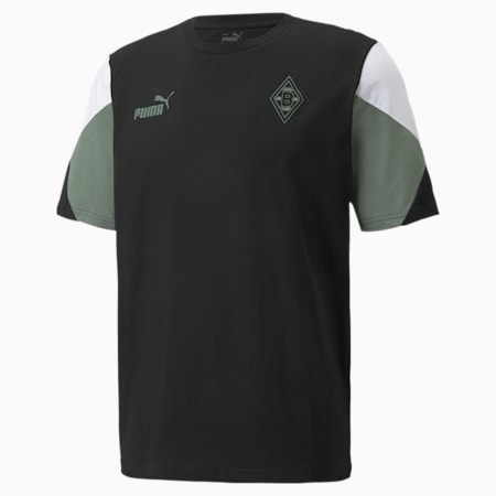 Męska koszulka piłkarska BMG FtblCulture, Puma Black-Laurel Wreath, small
